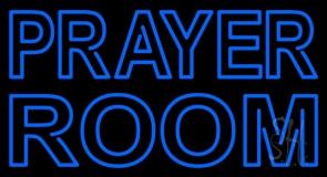 Blue Prayer Room LED Neon Sign