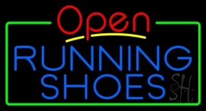 Blue Running Shoes Open LED Neon Sign