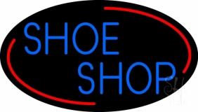 Blue Shoe Shop Neon Sign