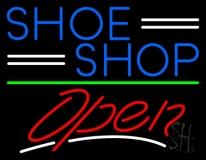 Blue Shoe Shop Open LED Neon Sign