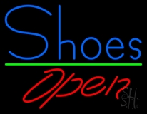 Blue Shoes Open LED Neon Sign