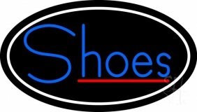 Blue Shoes Red Line LED Neon Sign