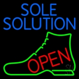 Blue Sole Solution Open LED Neon Sign