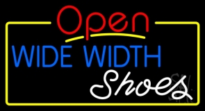 Blue Wide Width White Shoes Open LED Neon Sign