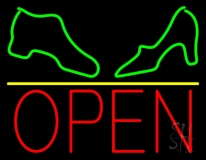 Boot And Sandal Open LED Neon Sign