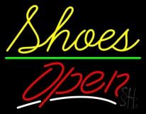 Cursive Shoes Open LED Neon Sign