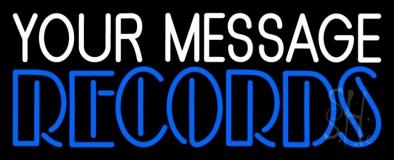 Custom Blue Double Stroke Records LED Neon Sign