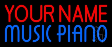 Custom Blue Music Piano Neon Flex Sign