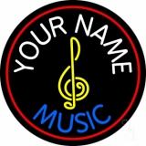 Custom Blue Music With Logo LED Neon Sign