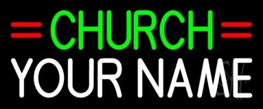 Custom Green Church Neon Flex Sign