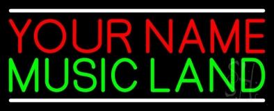 Custom Green Music Land White Line LED Neon Sign