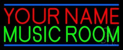Custom Green Music Room Blue Line LED Neon Sign