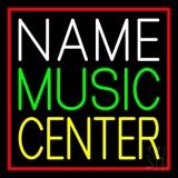 Custom Green Music Yellow Center Red Border LED Neon Sign