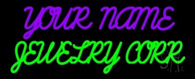 Custom Jewelry Green LED Neon Sign