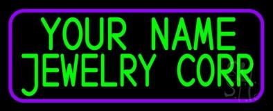 Custom Jewelry Purple Border LED Neon Sign