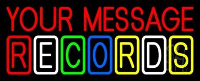 Custom Multicolor Records Block 2 LED Neon Sign