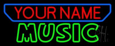 Custom Music Green Block LED Neon Sign