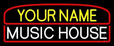 Custom Music House White LED Neon Sign