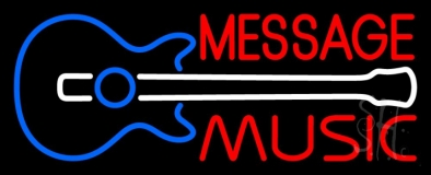 Custom Music Red Guitar LED Neon Sign