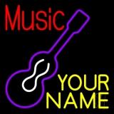 Custom Music Red Guitar Purple LED Neon Sign