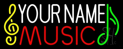 Custom Music Red Note LED Neon Sign