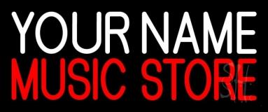Custom Music Store Red Neon Flex Sign