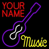 Custom Music Yellow Guitar Purple LED Neon Sign