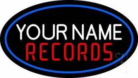 Custom Records In Red LED Neon Sign