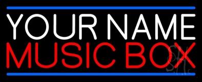 Custom Red Music Box Blue Line LED Neon Sign