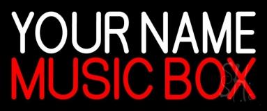 Custom Red Music Box Neon Sign