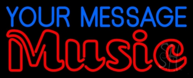 Custom Red Music Double Stroke LED Neon Sign