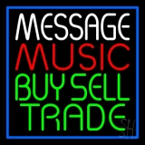 Custom Red Music Green Buy Sell Trade Blue Border LED Neon Sign