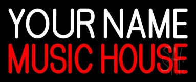 Custom Red Music House Neon Sign