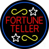 Fortune Teller With Blue Border LED Neon Sign