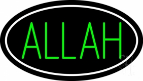 Green Allah LED Neon Sign