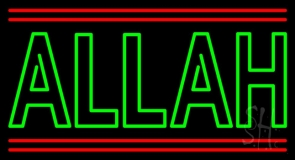 Green Allah Red Line LED Neon Sign
