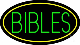 Green Bibles LED Neon Sign