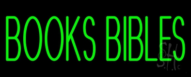 Green Books Bibles LED Neon Sign
