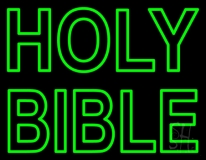 Green Holy Bible LED Neon Sign