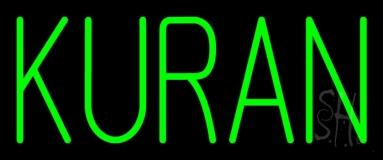 Green Kuran LED Neon Sign