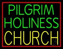 Green Pilgrim Holiness Yellow Church LED Neon Sign