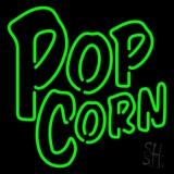 Green Popcorn LED Neon Sign