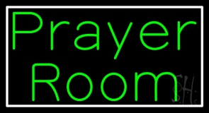 Green Prayer Room With Border LED Neon Sign