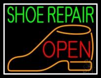Green Shoe Repair Orange Shoe Open LED Neon Sign
