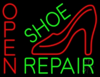 Green Shoe Repair With Sandal Open LED Neon Sign