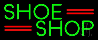 Green Shoe Shop LED Neon Sign