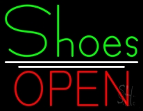 Green Shoes Open LED Neon Sign