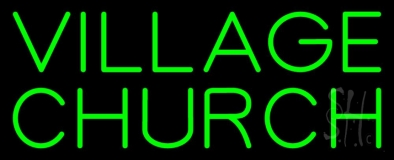 Green Village Church Neon Sign