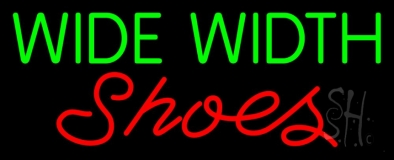 Green Wide Width Red Shoes LED Neon Sign