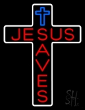 Jesus Saves With  Cross LED Neon Sign